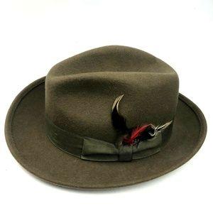 Vintage Henschel Hat Co. Feather Fedora